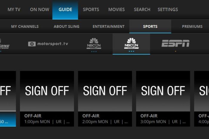 NBCSN Alt and Alt2 Off Air On Sling TV